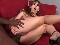 Amber Chase Welcomes Big Black Dong In Her Butt 1