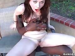 Brunette Hottie Pleasures Toned Black Stud 3