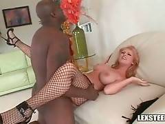Hungry Black Dude Thoroughly Bangs Awesome Blonde 2