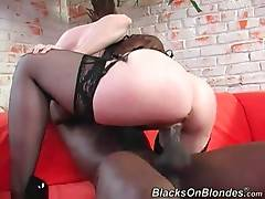 Horny Black Guy Bangs Pretty Older Blonde 4